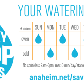 City of Anaheim Watering Schedule